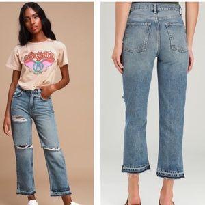 NEW Free People Lita Slim Leg jeans 30 high rise